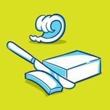 黄油块和卷毛-蓝色系列 免版税库存照片
