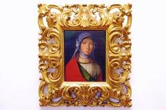 油女孩的画象绘画 免版税库存照片