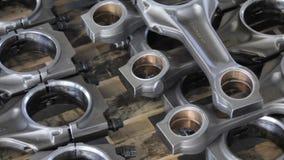 柴油引擎的连接杆 一部分的在存贮的引擎 引擎的活塞标尺 影视素材