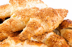 黄油新月形面包 免版税库存图片