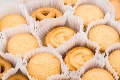 黄油曲奇饼背景纹理 库存照片