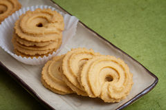 黄油曲奇饼 免版税图库摄影