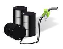 油桶和加油站 库存图片