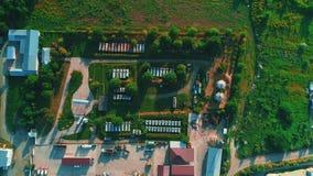 油桶和调车场仓库鸟瞰图  4K 股票视频
