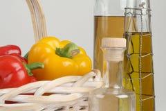 油橄榄胡椒 库存照片