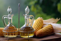油橄榄醋 库存照片