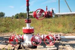 油泵的片段 石油工业equipment.oil和气体加工设备 库存照片