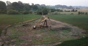 油泵,工业设备 油田站点,油泵跑 影视素材