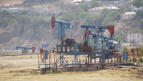 油泵,泵浦起重器 化石燃料能,老脉动单元 影视素材