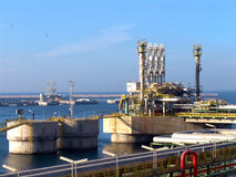 油港 免版税库存照片