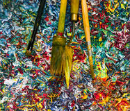 油漆五颜六色的背景  过滤器作用 免版税库存照片