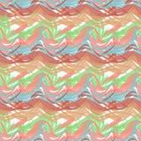 油漆冲程的抽象无缝的样式 免版税库存图片