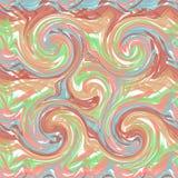 油漆冲程的抽象无缝的样式 库存图片