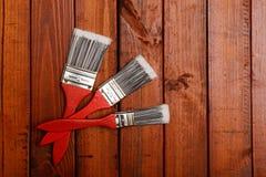 油漆刷三 免版税库存图片