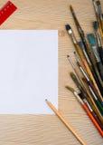 油漆刷和工具 图库摄影