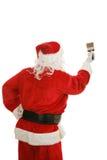 油漆刷圣诞老人 免版税库存照片