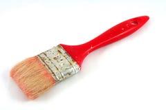 油漆刷红色 图库摄影