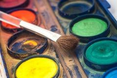 油漆和刷子 图库摄影