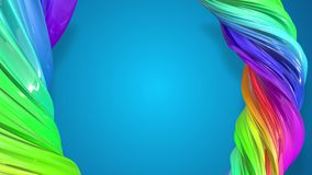 油漆在圈子的流程移动 与形成丝带混杂的油漆的小河的摘要五颜六色的创造性的背景  股票录像