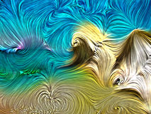 油漆打旋在夏天海滩颜色的抽象背景 关于艺术、设计和创造性的数字式颜色 库存例证