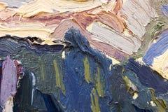 油漆抽象背景在帆布的 免版税库存照片