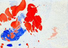 从油漆斑点和污点的风景背景  免版税图库摄影