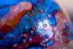 油漆斑点,宏观照片 免版税库存图片