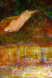 油漆横向背景 库存例证