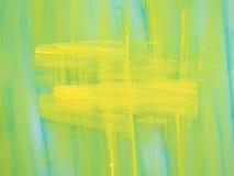 从油漆的薄荷的黄色背景与纹理 库存照片