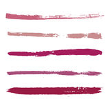 油漆红色冲程  库存图片
