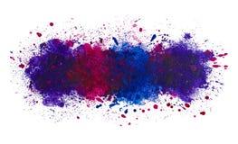 油漆背景,深海抽象艺术性的水彩飞溅  库存例证