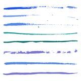 油漆蓝色冲程  免版税库存照片