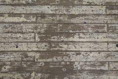油漆被剥皮的白色木地板板条背景 库存照片