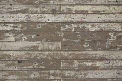 油漆被剥皮的白色木地板板条背景 免版税库存图片