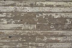 油漆被剥皮的白色木地板板条背景 库存图片