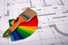 油漆颜色的选择 免版税库存照片
