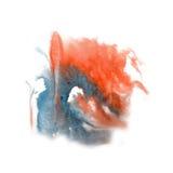 油漆飞溅颜色墨水水彩孤立石灰冲程泼溅物水彩蓝色红色aquarel刷子 免版税库存照片