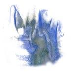 油漆飞溅颜色墨水灰色蓝色水彩被隔绝的冲程泼溅物水彩aquarel刷子 库存图片