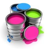 油漆,三颜色 库存图片