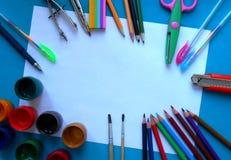 油漆,刷子,绘的铅笔 库存图片