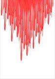 油漆滴水-传染媒介例证 红色落的红色液体或血液 红色指甲油漏 3d例证 皇族释放例证