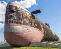 柴油潜水艇B-307 位于AvtoVAZ技术博物馆在陶里亚蒂 被采取的照片11/06/2015 免版税库存图片