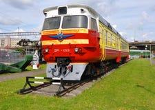 柴油火车DR-1无盖货车 铁路设备博物馆 Baranovich 免版税库存图片