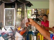 油灯寺庙Natakwan寺庙,rayong,thialand 免版税库存图片