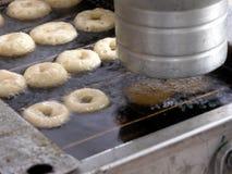 油炸圈饼做 免版税库存照片