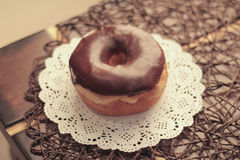 油炸圈饼巧克力 免版税库存照片