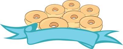 油炸圈饼徽标 库存照片