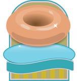 油炸圈饼徽标 免版税图库摄影