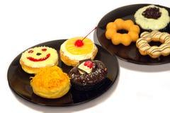 油炸圈饼是许多味道 免版税库存图片