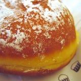油炸圈饼用糖粉 免版税库存图片